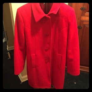 Preston & York red wool winter coat